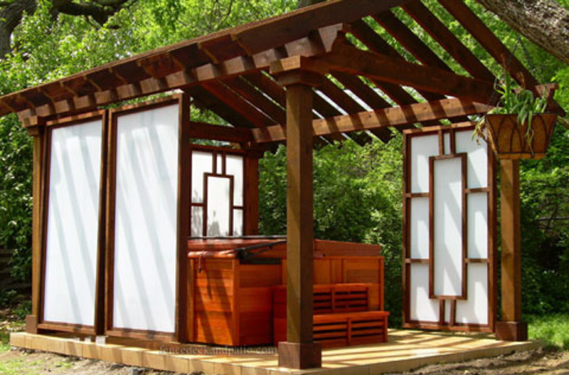 Distinctive styles of hot tub enclosures design bookmark for Hot tub styles