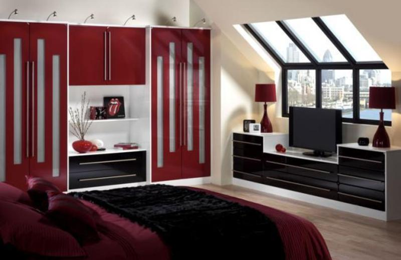 Red and black bedroom design design bookmark 14270 for Chambre noir et rouge