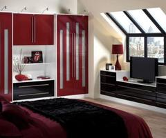 Red And Black Bedroom Design