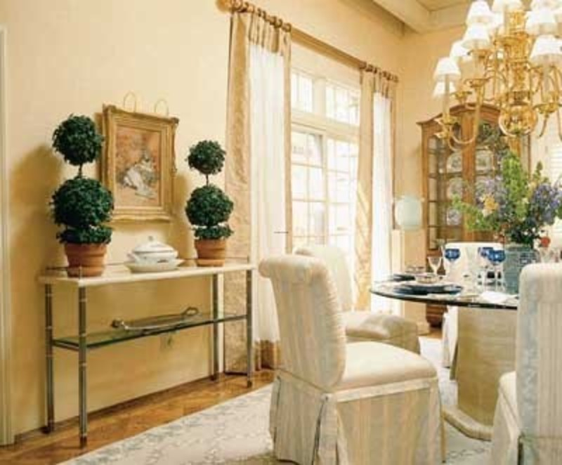 Country dining room decor photograph french country dining for Formal dining room design ideas