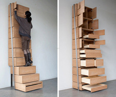 Contemporary Staircase Bookshelves Storage Solution For Small Home Furniture