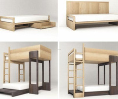 Simple Modular Wooden Bunk Beds To Stack Or Stagger