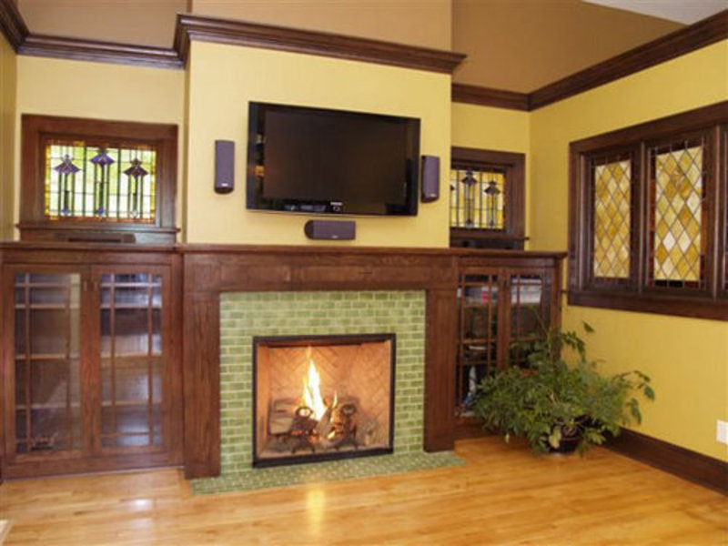 Brick fireplace design ideas design bookmark 14371 for Family room design ideas with fireplace