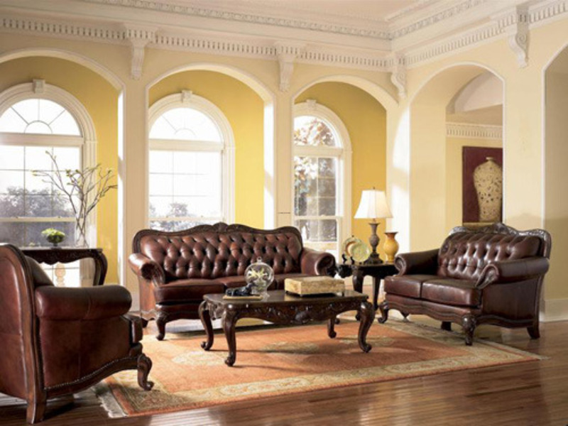 Classic Leather Sofa, Elegant Classic Leather Sofa