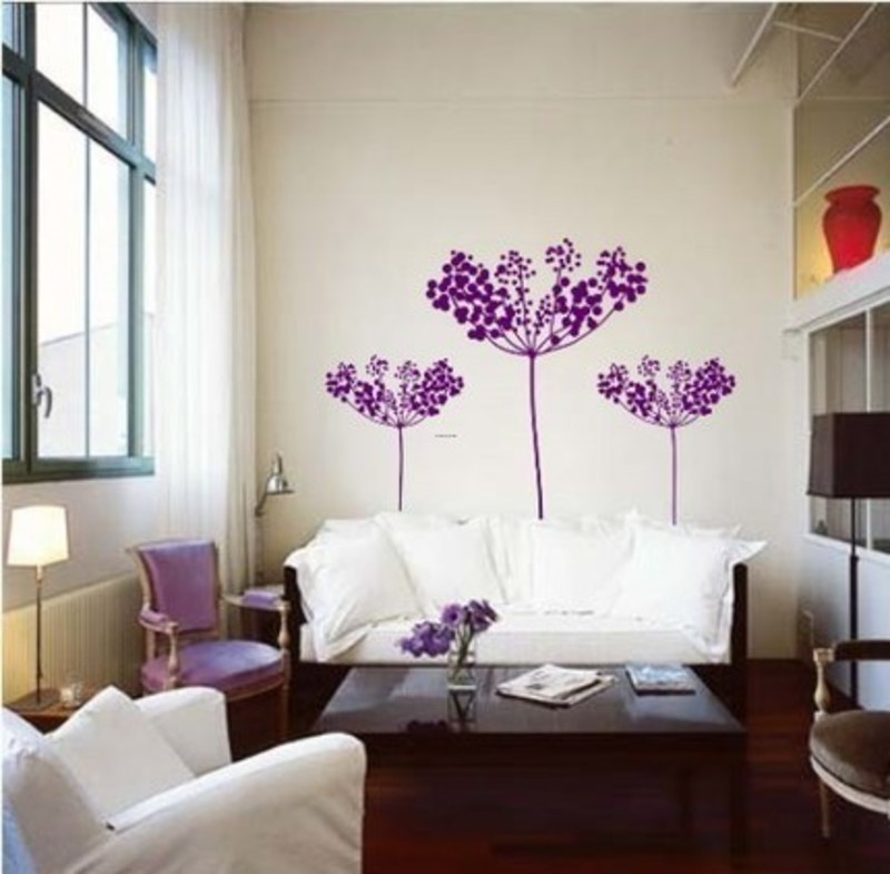 Decals For Walls, Best Modern Wall Decals For Home And Office Modern Wall Decals Purple Flower  Best Architectural Designs
