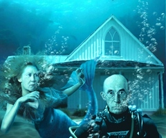 American Gothic House Underwater Pics
