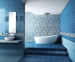 Brown And Blue Bathroom Idea Images