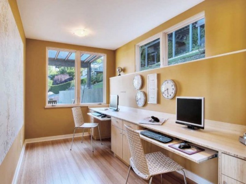 Seattle Contemporary Home Office Design Pictures Remodel Decor
