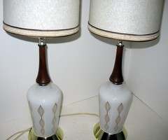 Vintage Mid Century Modern Table Lamps Bedroom By That70s Shoppe