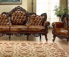 Luxury Classic Leather Sofa (Es1012)