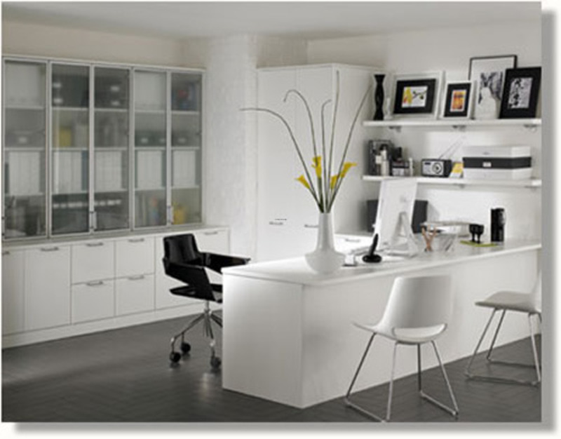 Contemporary home office furniture design bookmark 14565 for Home office cabinet design ideas