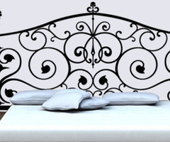 Headboard Wall Stickers And Decals, Baroque Wall Art :  Dezign With A Z, Baroque Headboard Decals For Bedroom Walls
