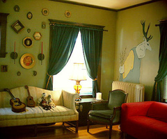 Paint Ideas: Accenting A Green Living Room