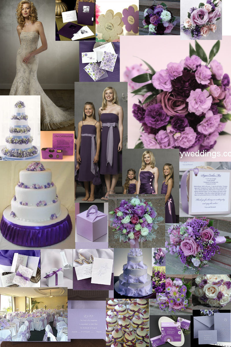 Purple Wedding Decorations Ideas Pictures Design Bookmark 14692