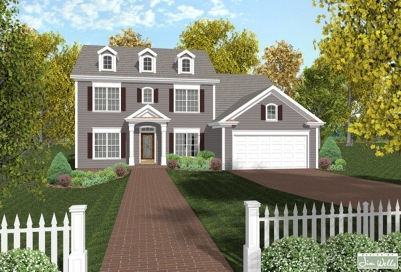 Colonial style house plans design bookmark 14697 for Colonial garage