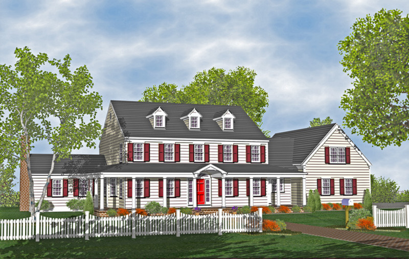 Colonial houses plans design bookmark 14718 for Types of colonial houses