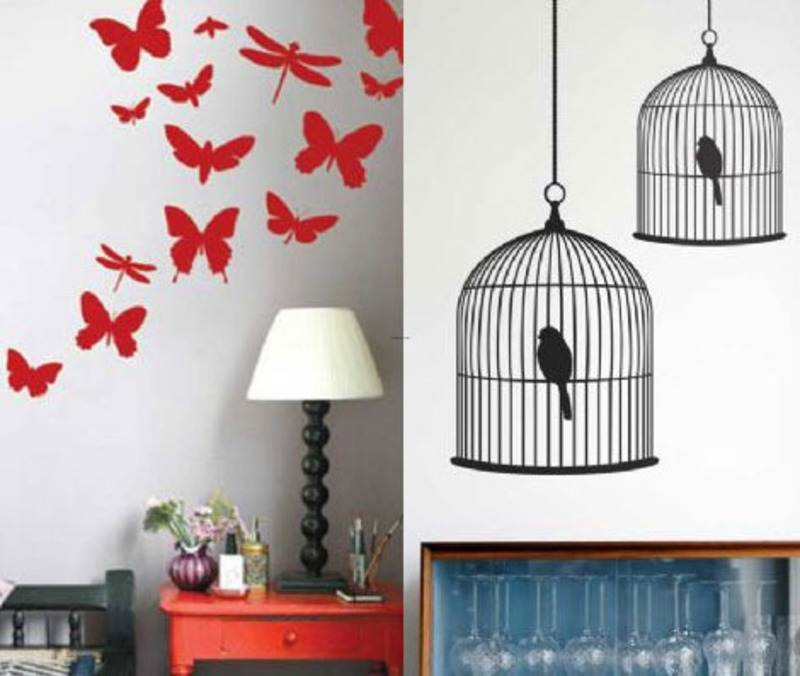 Decals For Walls, Birdcage 