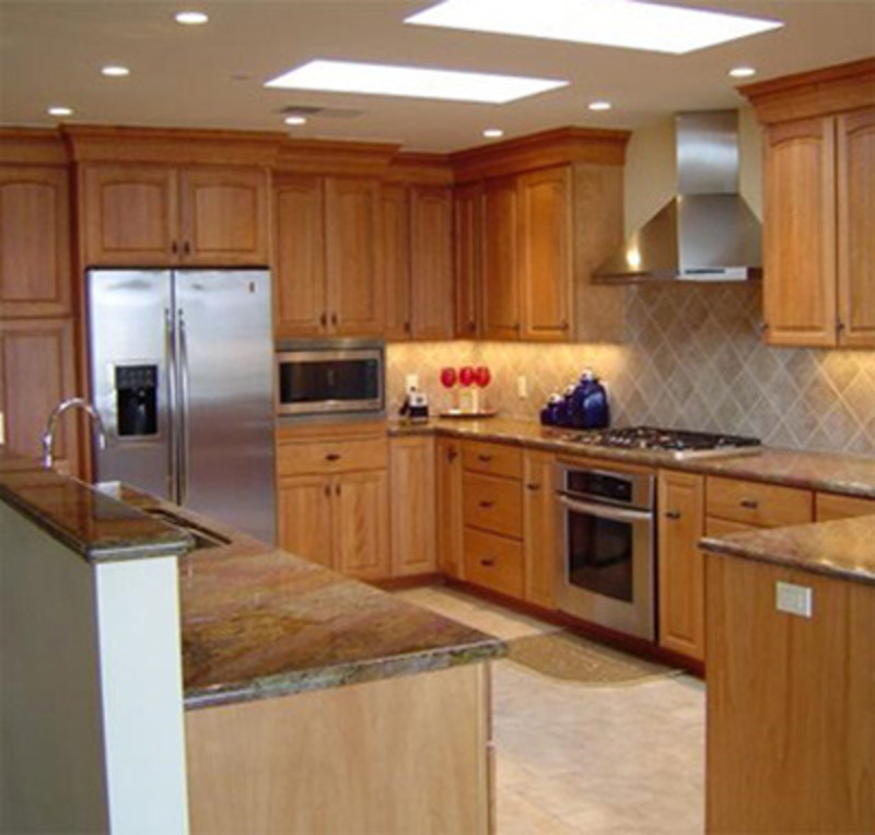 Light Cabinets Kitchen Grey Porcelain Floor