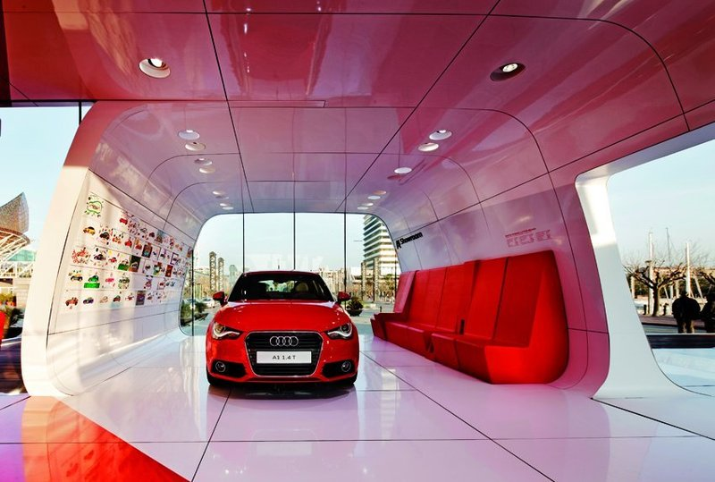 Audi Are A1 Showroom Design By Schmidhuber Partner Audi Are A1 Garage Design Interior Modern