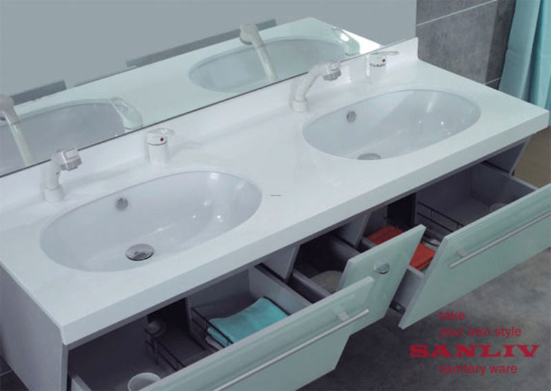 Install A Double Sink Vanity For Small Bathroom Design