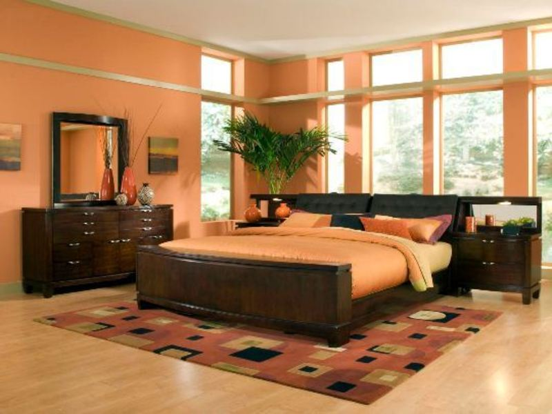 Colorful wall in the bedroom ideas orange wall bedroom ideas home decorating designs design - Orange bedroom decorating ideas ...