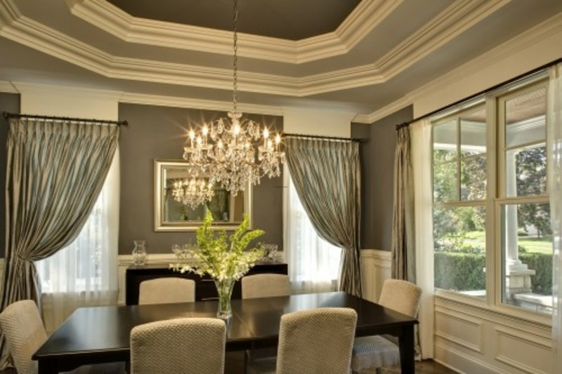 Traditional dining room design pictures remodel decor for Dining room ceiling paint ideas
