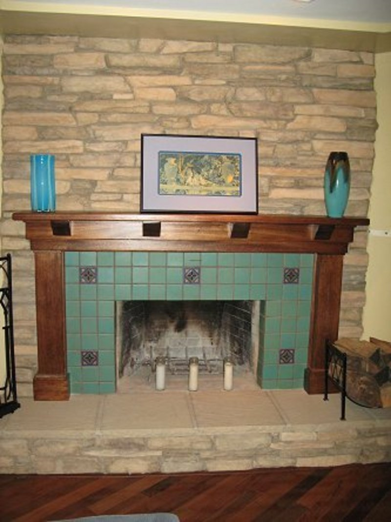 Tile Fireplace Photos Design Bookmark 14867