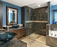 His And Her Master Bathroom, Blue