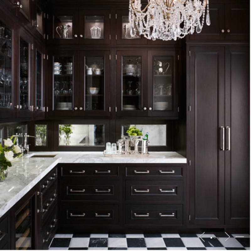 Butler pantries kitchens design dark cabinets butler for Kitchen designs with butler pantry