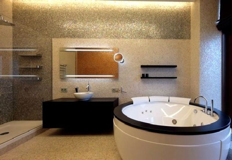 Ap roof top terrace decoration penthouse apartment in for Spa decorated bathroom ideas