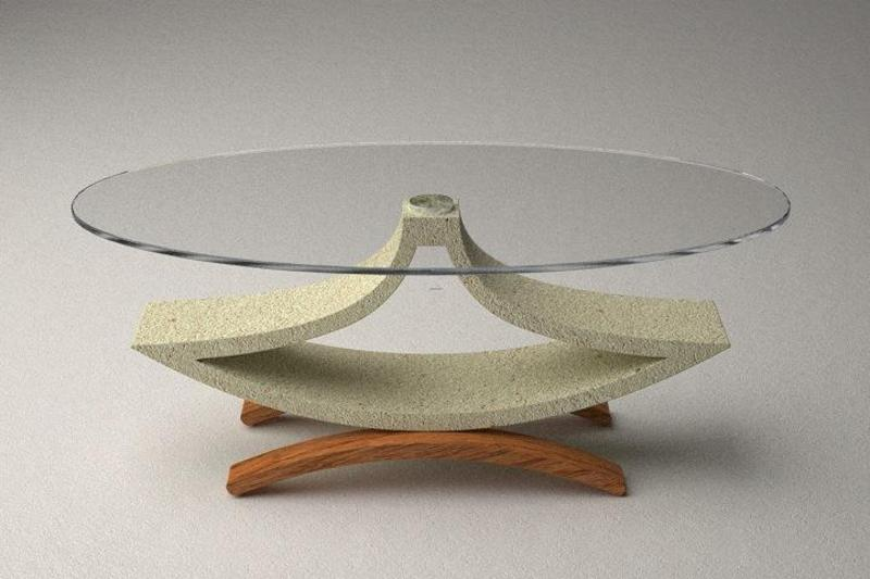 Modern Glass Table, Modern Glass Top Coffee And Dining Tables With Colored Bases
