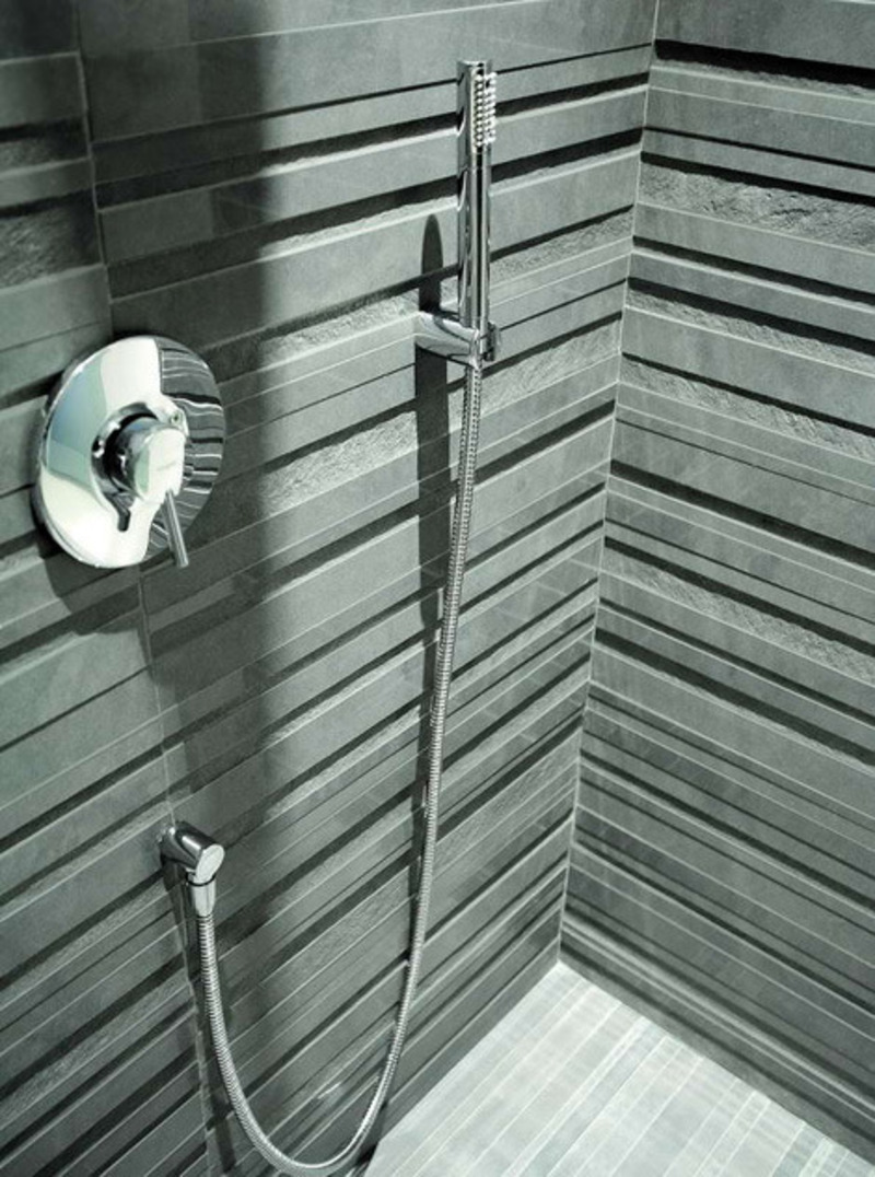 Modern tiles porfido and vibrazioni relief tile designs for Contemporary bathroom tile designs