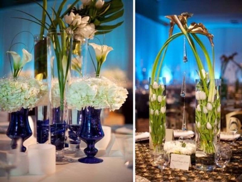 Modern Wedding Reception Table Decor Design Bookmark 14998