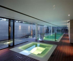 Swimming And Sauna Room House In Las Rozas By A