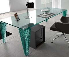Modern Glass Table Design By Fiam Modern Glass Table To Desk  Best Home Interior Design