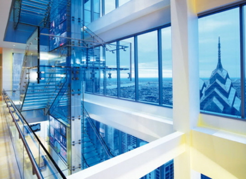 Interior Glass Design, Modern Corporate Office Architecture And Interior Design