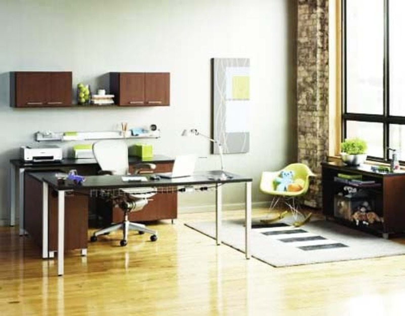 Contemporary Home Offices, Contemporary Workstation Interior Home Office Design By National Association Of Home Builders Contemporary