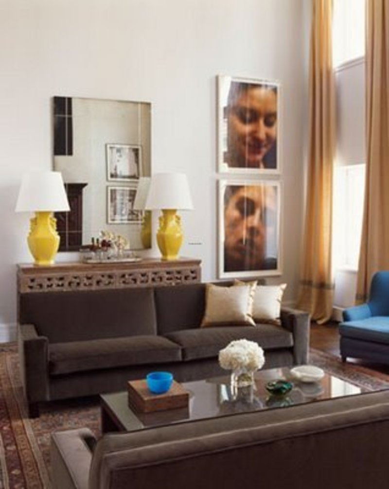 Blue and brown living room decor design bookmark 15031 for Blue brown living room decor