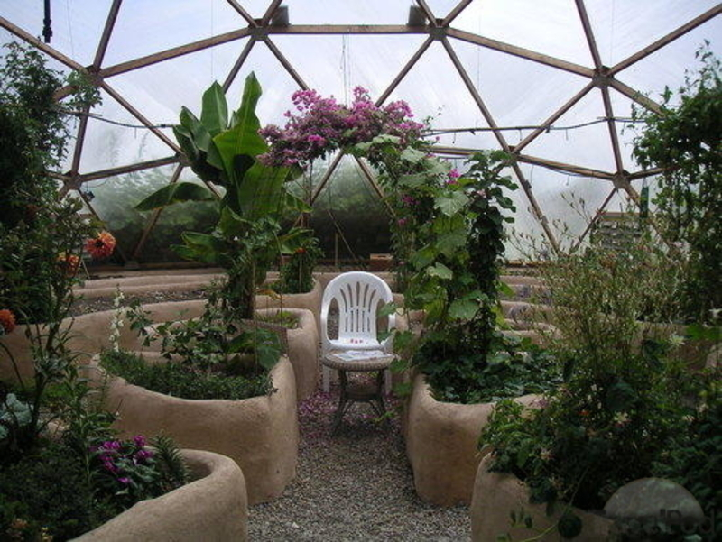 Greenhouse Interior Design, Design Of Tropical Greenhouse Dome