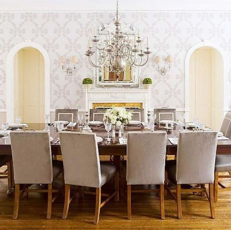 Traditional Dining Room, Cococozy: The Silver Lining On A Traditional Dining Room