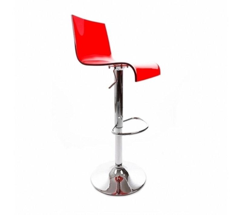 Chaise de bar rouge color acheter comparer prix discount promotion design b - Chaise de bar contemporaine ...