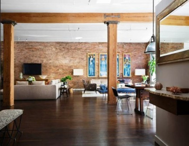 Modern loft apartment interior design in new york city 4 for How to decorate a loft apartment