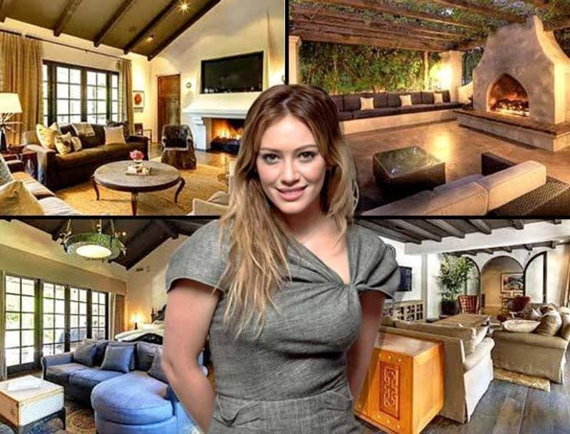Mediterranean House Interior, Hilary Duff Mediterranean House In Toluca Lake, Ca