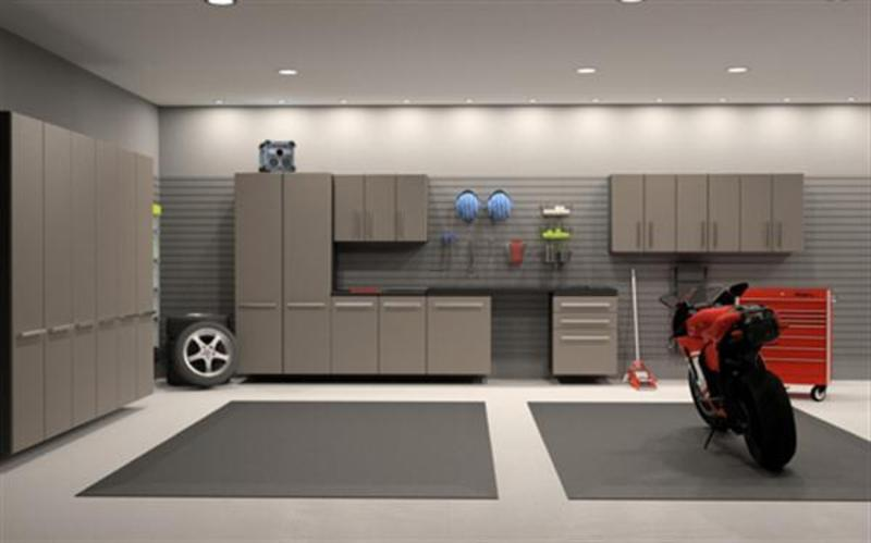 Modern garage storage cabinet design ideas and for Custom garage design