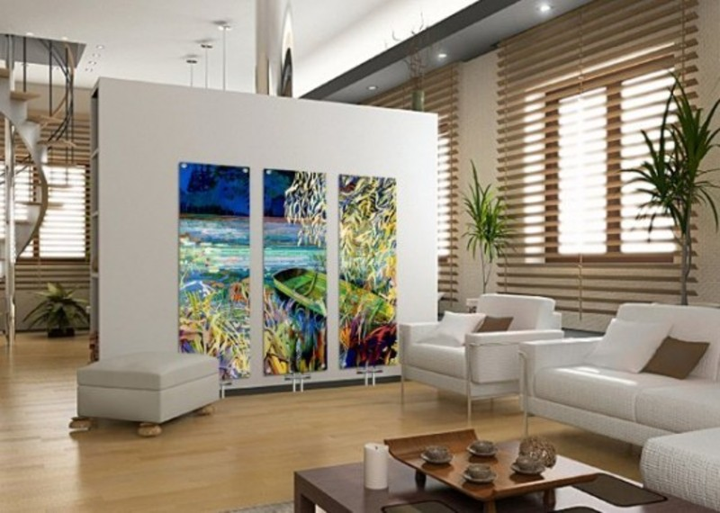 Interior Glass Design, Contemporary Glass Radiators For Home Interior Heating Program
