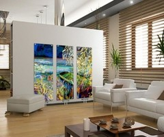 Contemporary Glass Radiators For Home Interior Heating Program