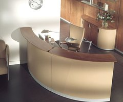 Reception Desk For Modern Office Design   Furniture   Home Design: Lobby Design: Contemporary Office Lobby Furniture