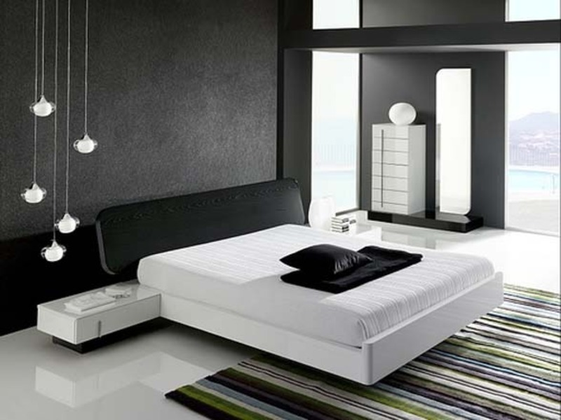 Modern Interior Design, Modern Black And White Bedroom Interior Design — Home Design