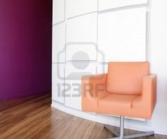 Modern Office Lobby Interior Design, Orange Leather Chair , Wooden.. Royalty Free Stock Photo, Pictures, Images And Stock Photography. Image 4609991.