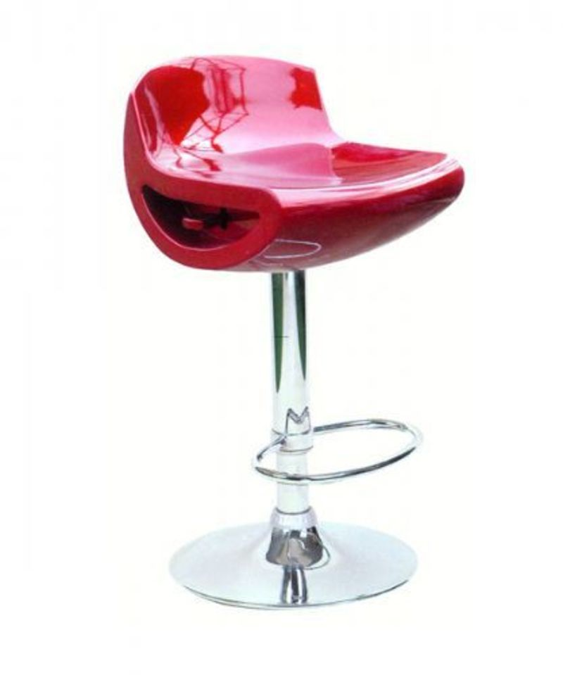 Chaise de bar design bookmark 15168 - Chaise de bar grise ...